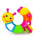 FunBlast™ Lovely Worm Rattles Toy for Toddler, Infant & Small Kids, Rattle Newborn Toys Colourful Plastic Baby Nursery Hand Bell Hand Shake Rattles Play set