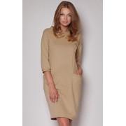 Sukienka M205 (beżowy)