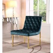 Iconic Home Moriah Silla tapizada (Terciopelo, Acabado en latón, armazón de Metal Pulido), Verde, Accent Chair, 1