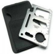 Aptitude 11 In 1 Pocket Visiting Card Survival Kit Multi Tool Multi Tool Swiss Army Card(Silver)