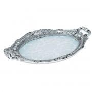 Tava cristal si argint Baroque