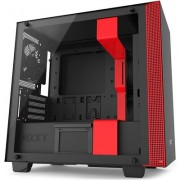 Кутия NZXT H400i Smart Matte Micro-Tower, Black/Red