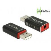 DeLock DELOCK USB Hangkártya 2.0 High-Res 24bit/96kHz 65899