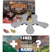 Caldera Vs. Tronikon: Hex Bug Warriors Battle Stadium W/ Battling Robots + 1 Free Hex Bug Nano Bundle