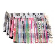 Rongyszőnyeg, vegyes szálú, 40x60 cm