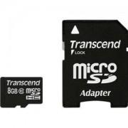 Transcend 8GB microSDHC (1 adapter - Class 10) - TS8GUSDHC10