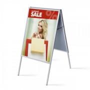 Jansen Display Interiérové reklamní áčko 700x1000mm, ostrý roh, profil 25mm