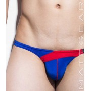 Mategear Nan Song IX Tapered Sides V Front Ultra Pouch Bikini Swimwear Blue 1260502