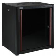 """19"""" комуникационен шкаф MIRSAN MR.WTN09U56.01, 600 x 560 x 512 мм, D=560 мм / 9U, черен, за стена"""