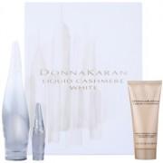 DKNY Liquid Cashmere White coffret I. Eau de Parfum 100 ml + Eau de Parfum 7 ml + leite corporal 100 ml