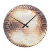 Orologio da parete Disco - palla da discoteca in vetro specchiato Nextime