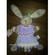 Doudou Lapin Doudou Et Compagnie Indien Lapine Indienne Multi Etiquettes Marionnette Parme Clair Lavande Jouet Eveil Enfant Bebe Mixte Marionette
