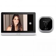 """Eques R22 wireless Spioncino Digitale Porta camera 2Mpx Con Schermo Display Touch Screen da 7"""" colore Alluminio"""