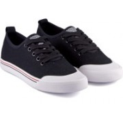 DeVEE Old Pro-School Trainer Black Canvas Shoes For Women(Black)