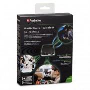 Vezeték nélküli USB és memóriakártya olvasó, hordozható akkumulátor, VERBATIM \MediaShare Wireless\