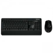 Комплект безжични клавиатура + мишка Microsoft Wireless BlueTrack Desktop 3050 черни, MS-comfort-3050_VZ