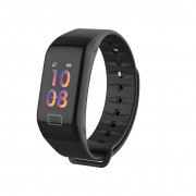 LEMONDA P1 0.96-inch Color Screen Sport Wristband with Blood Pressure Tracker - Black