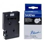 Bandă laminată Brother TC291, 5m/9mm negru/alb