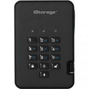 iStorage 500 GB Portable Encrypted Hard Drive diskAshur 2 USB 3.0 Phantom Black