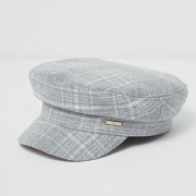 River Island Girls Grey check captain's hat