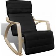 YOUTHUP Chaise à bascule Noir Bois cintré et tissu - YOUTHUP