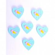 Szív ragasztós poly 3,2x2,4x0,5cm krém (8 db/szett)
