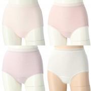 ThreeHeart シルク混しっかり深ばきショーツ4色組【QVC】40代・50代レディースファッション