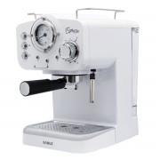 Espressor Samus Espressia White, 15 bari, 1.6 L, Filtru inox, Selector nivel abur, Dispozitiv spumare, Alb