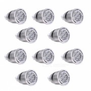 YWXLight 10Pcs MR16 7W SMD 3030 Proyectores LED Caliente AC / DC blanco 12V