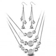 Dames Sieraden Set Druppel oorbellen Hangertjes ketting Basisontwerp Modieus Eenvoudige Stijl Kostuum juwelen Sterling zilver Bal