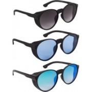 Bryan Adams Round Sunglasses(Grey, Blue, Green)