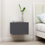 vidaXL Нощни шкафчета, 2 бр, сиви, 40x30x30 см, ПДЧ