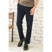 Mens Next Navy Birdseye Slim Fit Trousers - Navy
