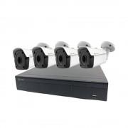 Kit videosorveglianza ip 4 telecamere ip poe 1080p, spazio disco senza hard disk