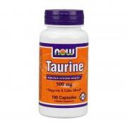 Tauryna Taurine 500mg 100 Kapsułek Now Foods