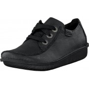 Clarks Funny Dream Black Leather, Skor, Lågskor, Promenadskor, Svart, Dam, 36