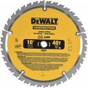 Disco de Sierra Dewalt DW3114 10 Pulg 40T Dientes de Carburo