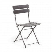 Kave Home Cadeira Ambition cinzenta , en Metal - Cinzento
