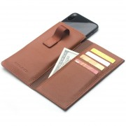 Cuero Auténtico QIALINO Flip Tipo Teléfono Móvil Cubierta Protectora Para IPhone