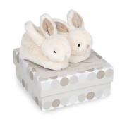 Doudou Et Compagnie Caixa com pantufas com guizo, toupeira, 0-6 meses - Lapi