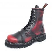 bottes en cuir - KMM - Black/Red - 080