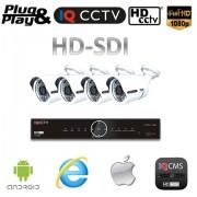 Kamerový set HD SDI - 4x 1080P kamery + HD SDI DVR 2TB
