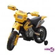 vidaXL Dječji električni žuti motocikl