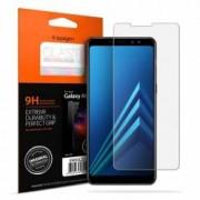 Folie sticla transparenta Case friendly Spigen GLAS.tR SLIM HD Samsung Galaxy A8 2018