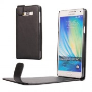 Vertical Flip Magnetic Snap Leather Case for Samsung Galaxy A7 / A700F(Black)
