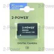 2-Power Digitalkamera Batteri Panasonic 7.2v 1000mAh (DMW-BLC12)
