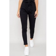 JFR High Waisted Paperbag Jeans - Mika Svart