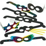 Baker Ross Funny Scratch Art Glasses - 12 Kits To Make Funny Glasses For Kids. Kids Party Crafts. Size 35cm.
