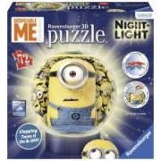 Puzzle 3D Minions Cu Lumina 72 Piese.Forme diferite de piese si dimensiuni