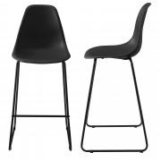 [en.casa]® Bárszék Helsinki 2 darabos design konyhai szék szett fém lábak 110 x 46.5 cm fekete